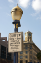 Royalty Free Photo of a Curfew Sign