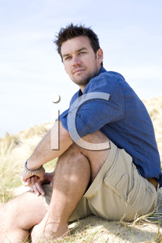 Royalty Free Photo of a Man on the Beach