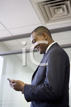 Royalty Free Photo of a Man With a Cell Phone