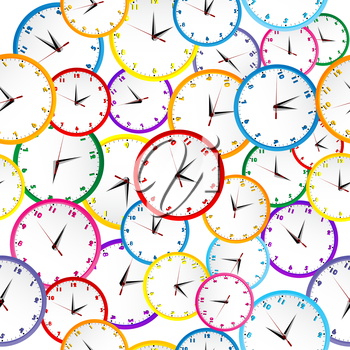 Royalty Free Clipart Image of a Clock Background