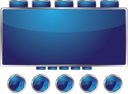 Royalty Free Clipart Image of a Blue Web Design