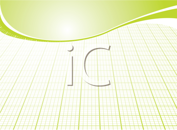 Royalty Free Clipart Image of a Green Grid Background