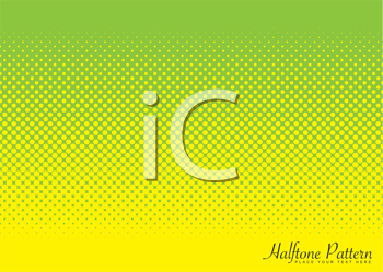 Royalty Free Clipart Image of a Green and Yellow Pattern