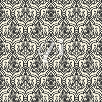 Seamless ornamental pattern  with hand drawn ornaments.