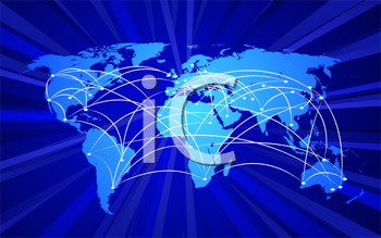 Royalty Free Clipart Image of a Connected World