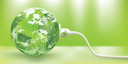 Royalty Free Clipart Image of a Globe With a Cord