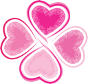Royalty Free Clipart Image of a Valentine Clover