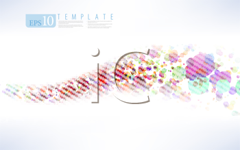 Royalty Free Clipart Image of an Abstract Particle Background