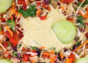 Royalty Free Photo of a Vegetable Salad With Sauce