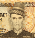 Royalty Free Photo of Teuku Umar on 5000 Rupiah 1986 Banknote from Indonesia. National hero of Indonesia for his action against Dutch occupation