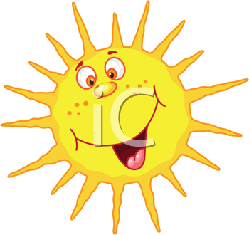 Royalty Free Clipart Image of a Cheerful Sun