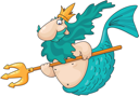Royalty Free Clipart Image of a Merman