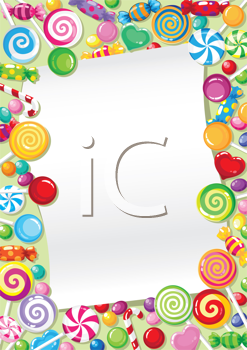 illustration of a candy card