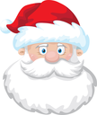 illustration of a cheerful Santa head
