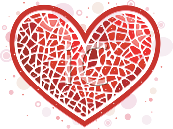 Royalty Free Clipart Image of a Mosaic Heart