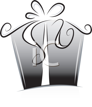 Royalty Free Clipart Image of a Gift