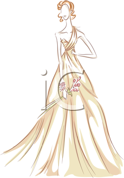 Royalty Free Clipart Image of a Gown