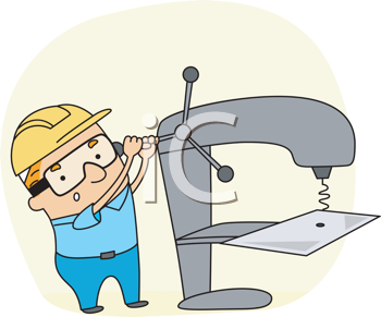 Royalty Free Clipart Image of a Metal Worker