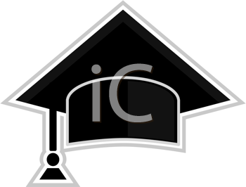 Royalty Free Clipart Image of a Graduating Class Cap