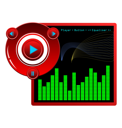 Royalty Free Clipart Image of a Web Music Player Template