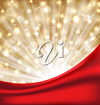 Illustration Christmas elegant background with glow effect -  vector