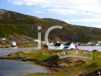 Royalty Free Photo of Salvage Village in Newfoundland
