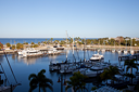 Yachts Anchored In Harbor