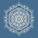 Outlined Mandala Background for greeting card, Brochure, Card or Invitation with Islamic, Arabic, Indian, Ottoman, Asian motifs. Abstract Retro Stylized flowers wallpaper Seamless Blue Color