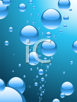 Royalty Free Clipart Image of a Background of Water Bubbles