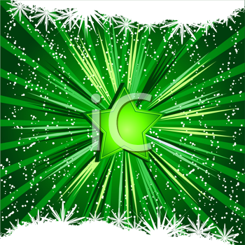 Royalty Free Clipart Image of a Festive Star Background