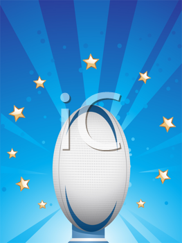 Royalty Free Clipart Image of a Rugby Background