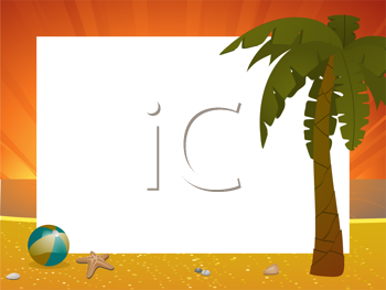 Royalty Free Clipart Image of a Summer Border