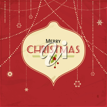 Royalty Free Clipart Image of a Christmas Ornament Greeting
