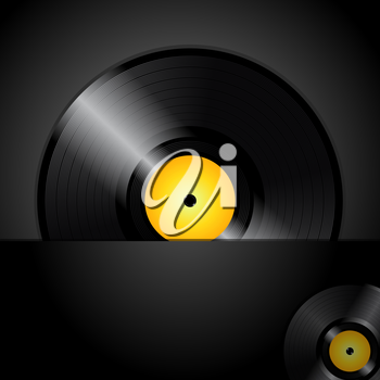 Royalty Free Clipart Image of a Record on Black