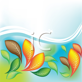 Royalty Free Clipart Image of a Leaf Background