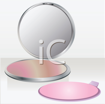 Royalty Free Clipart Image of a Powder Compact