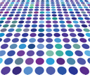 Royalty Free Clipart Image of a Blue Spotted Background