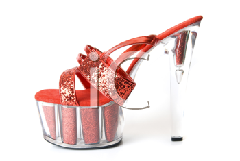 Royalty Free Photo of a Red High Heel