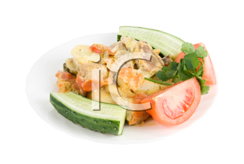 Royalty Free Photo of a Plate of Food