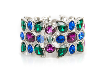 Royalty Free Photo of a Bracelet With Colored Gems