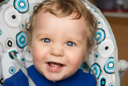 Royalty Free Photo of a Baby Boy Laughing