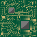 Royalty Free Clipart Image of a Circuit Board Background
