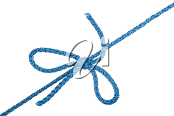 Knot and tie a blue rope