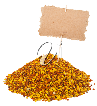 Heap of bee pollen with a pointer