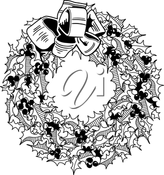 Royalty Free Clipart Image of a Wreath