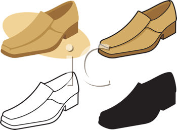 Royalty Free Clipart Image of Men's Shoes