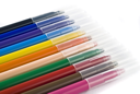 Colorful felt-tip pens (markers) over white background