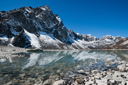Sacred Lake and mountain near Gokyo in Himalayas, Nepal (4800 m)