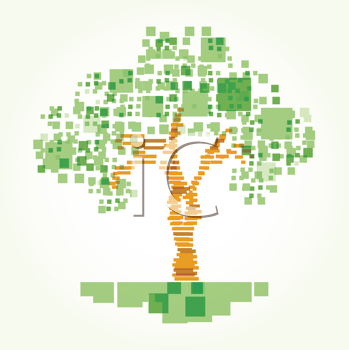 Royalty Free Clipart Image of an Abstract Tree