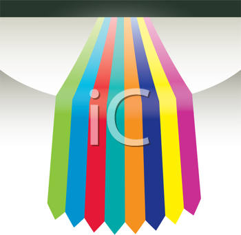 Royalty Free Clipart Image of Ribbons on a Background